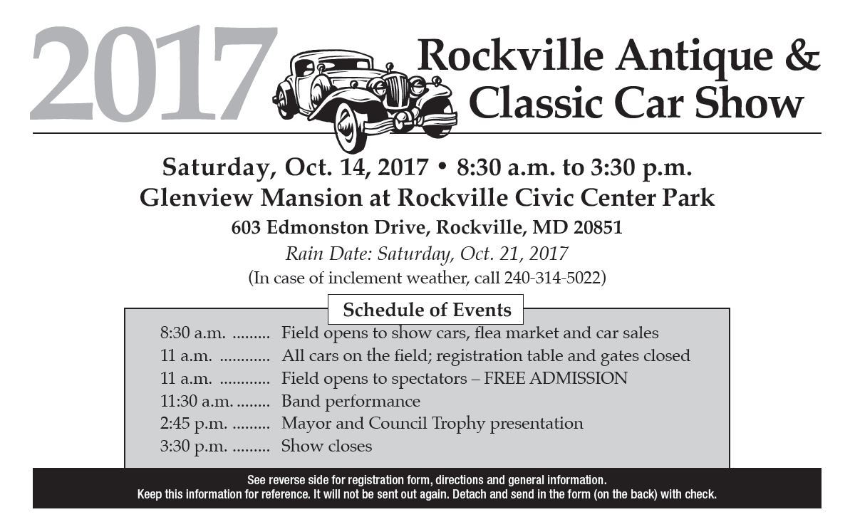 2017 Rockville Antique and Classic Car Show Tickets, Sat, Oct 14 ...