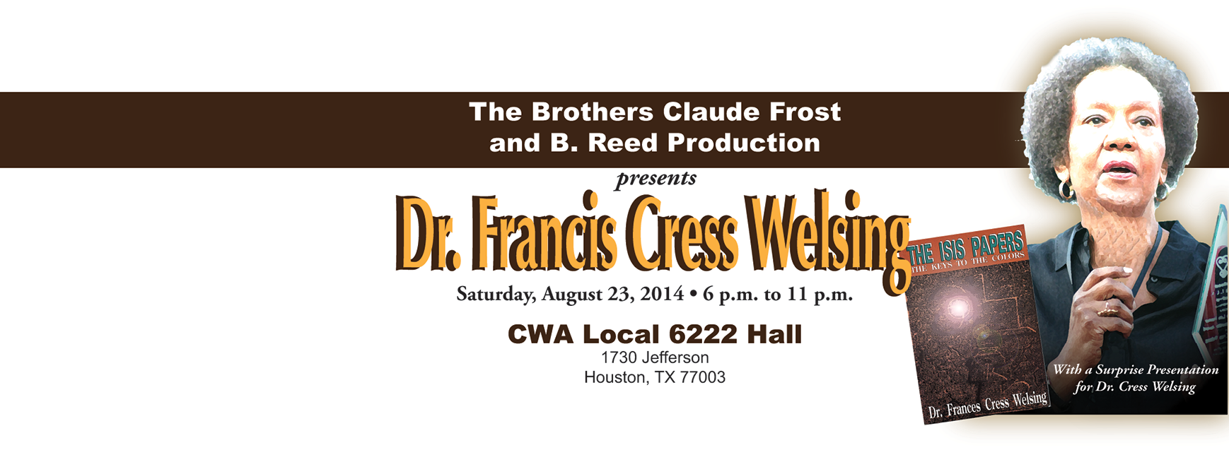 Dr. Cress Welsing Event