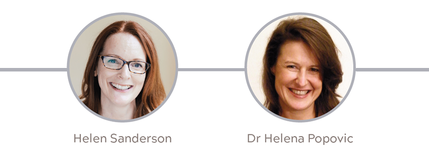 Helen Sanderson and Dr Helena Popovic