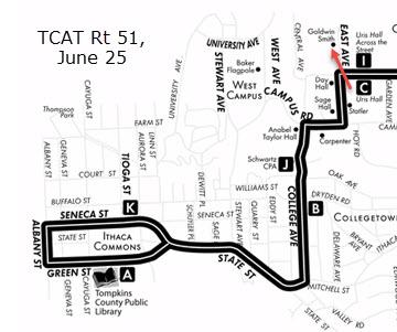 TCAT Route 51 map