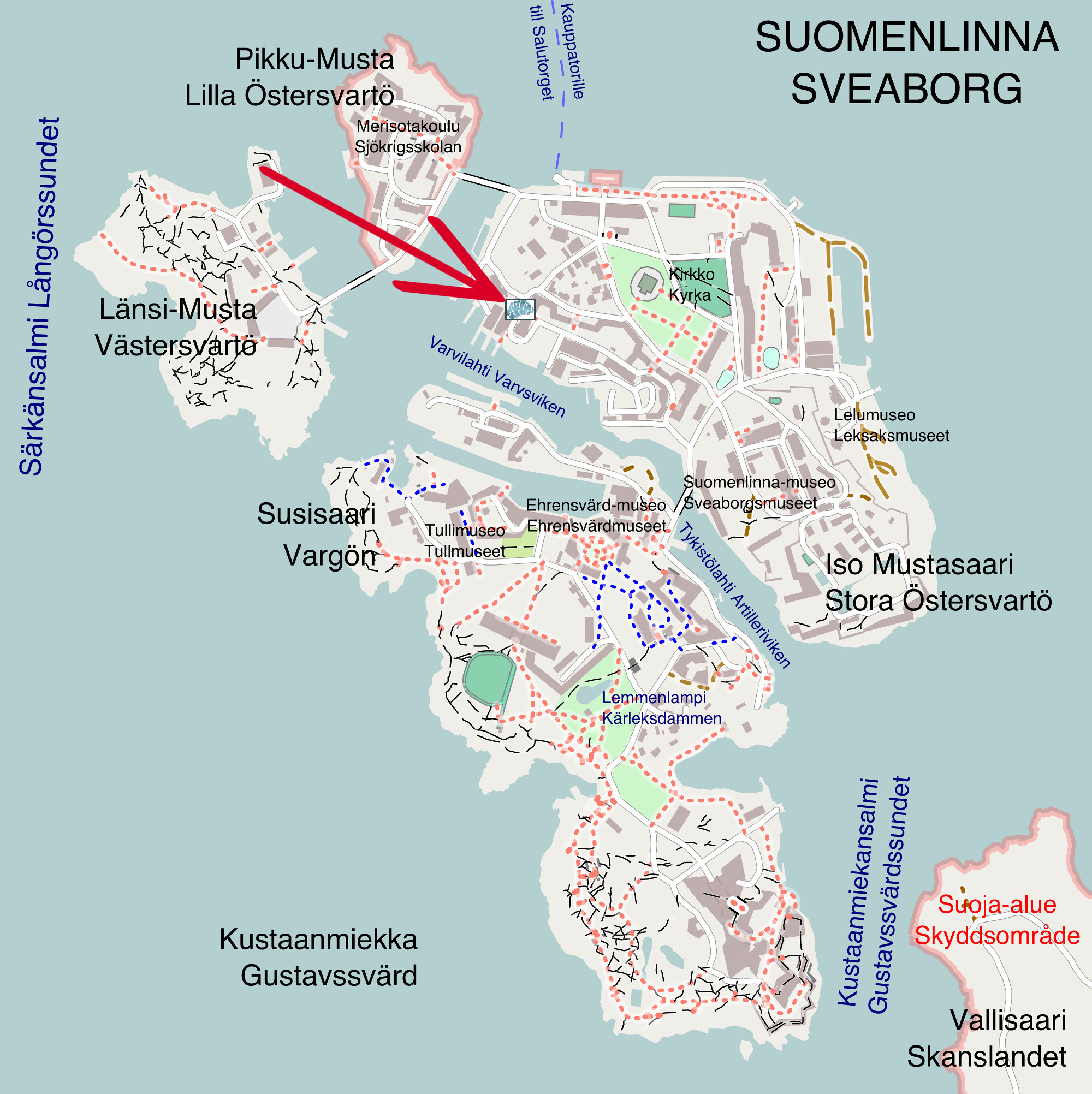 Map of Suomenlinna