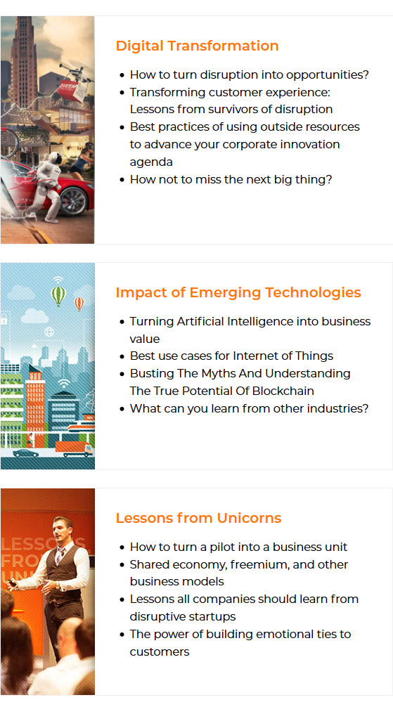 What You Will Learn at SVI Summit Ideas on how businesses can prosper in an age of digital disruption