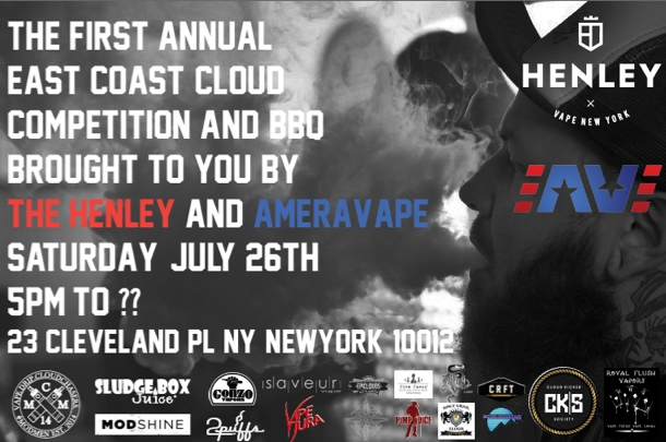 Henley and Ameravape Cloud Competition NYC