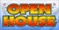 Colorfully Written Open House Phrase