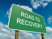 Road to Recovery Highway Sign