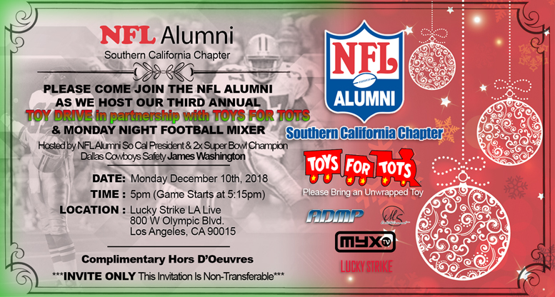 NFL ALUMNI SO CAL CHARITY EVENT SERIES 2018 EVENT