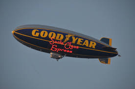 Goodyear Blimp U.S. Marine Corps Toys for Tots Santa Claus Express Los Angeles 2015