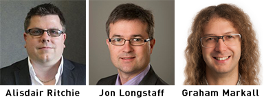 Alisdair Ritchie, Jon Longstaff and Graham Markall - Speakers at the EMCSF Cyber Connected World event