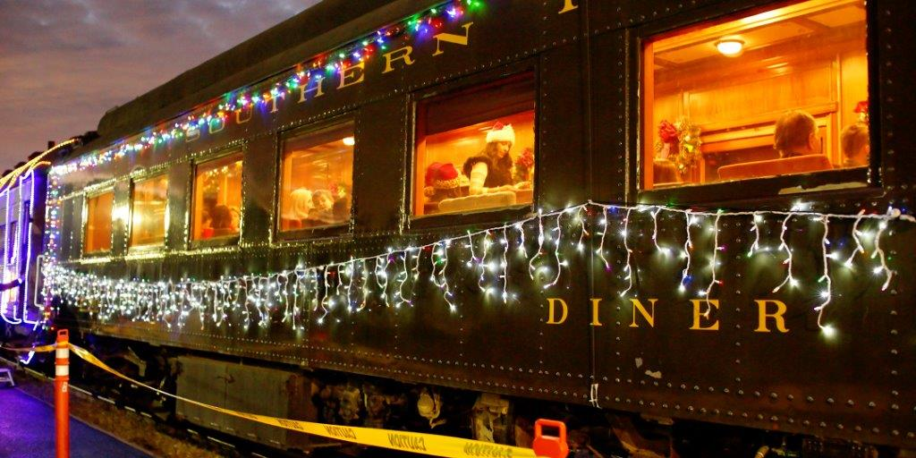 Niles Canyon Railway Train of Lights Diner at Dusk
