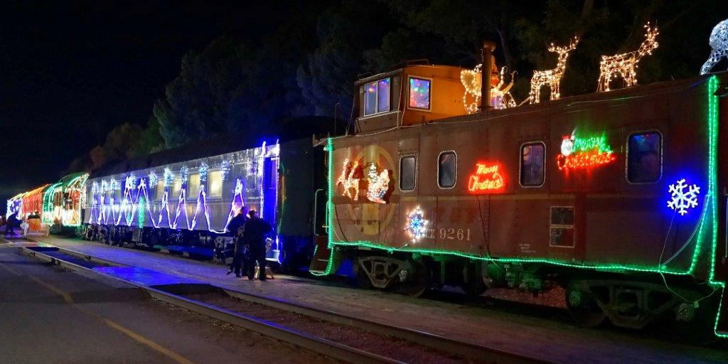 Niles Canyon Railway Train of Lights at Sunol 2014