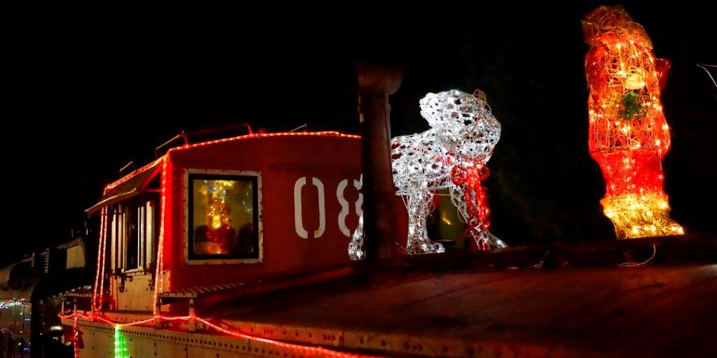 Santa Fe Caboose on the Train of Lights