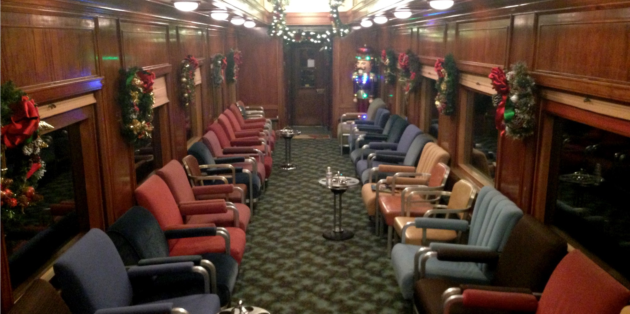 Niles Canyon Railway Train of Lights Diner Car as Parlor Car