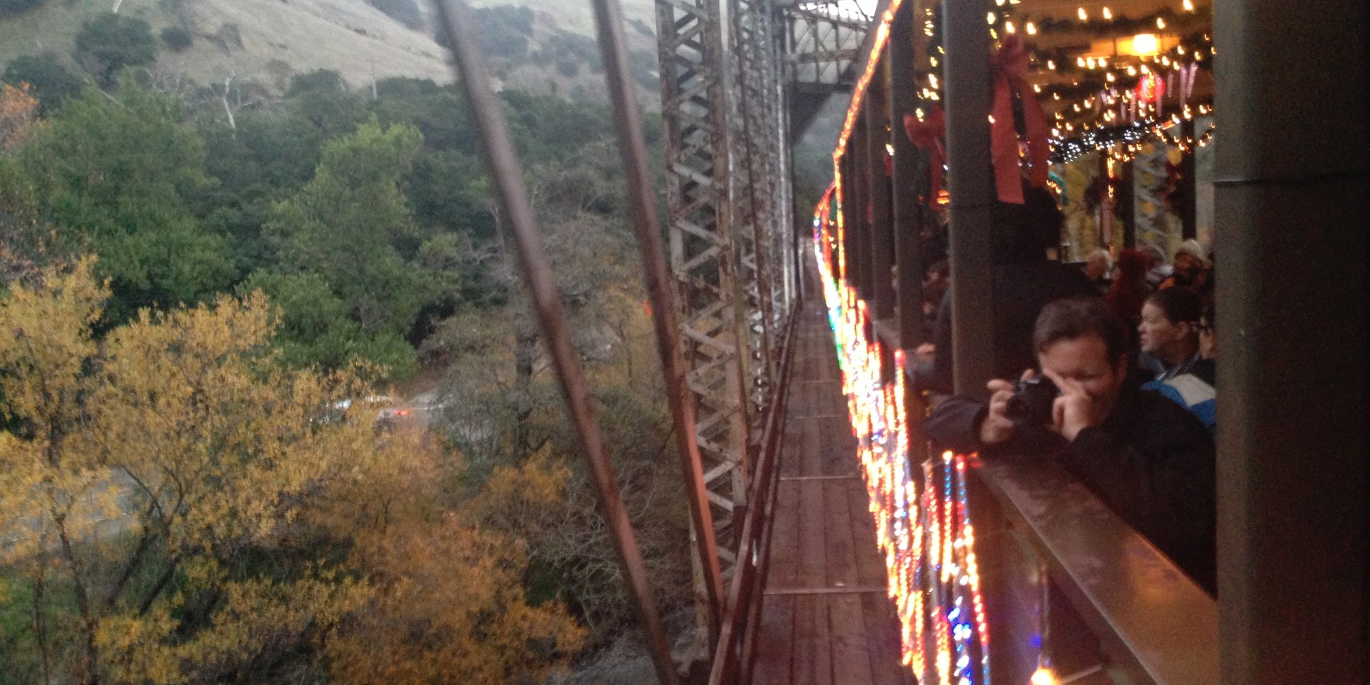 Fall Foliage, Niles Canyon Train of Lights at Farwell Bridge
