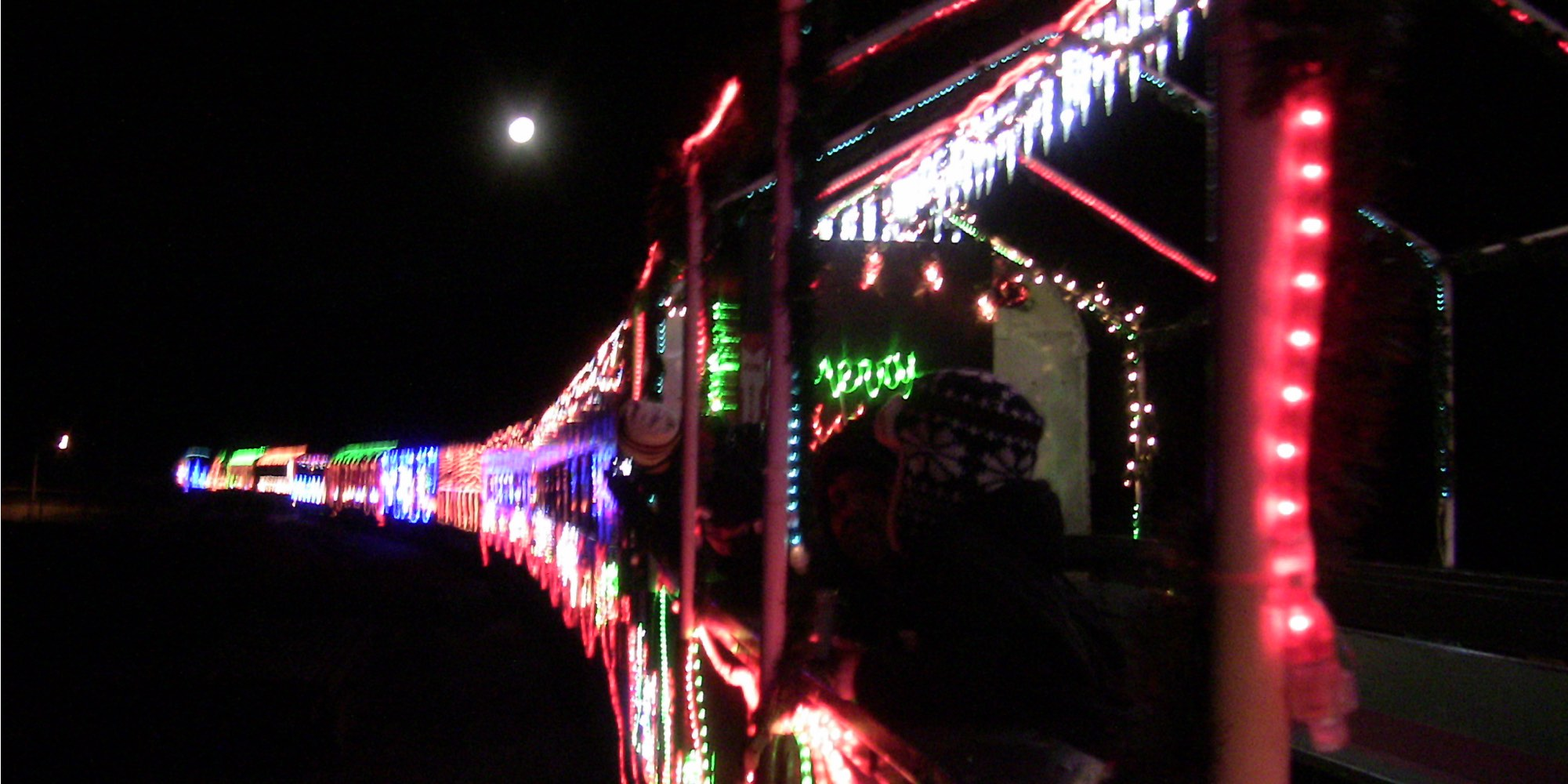NCRy Train of Lights, Full Moon, Niles, 2014