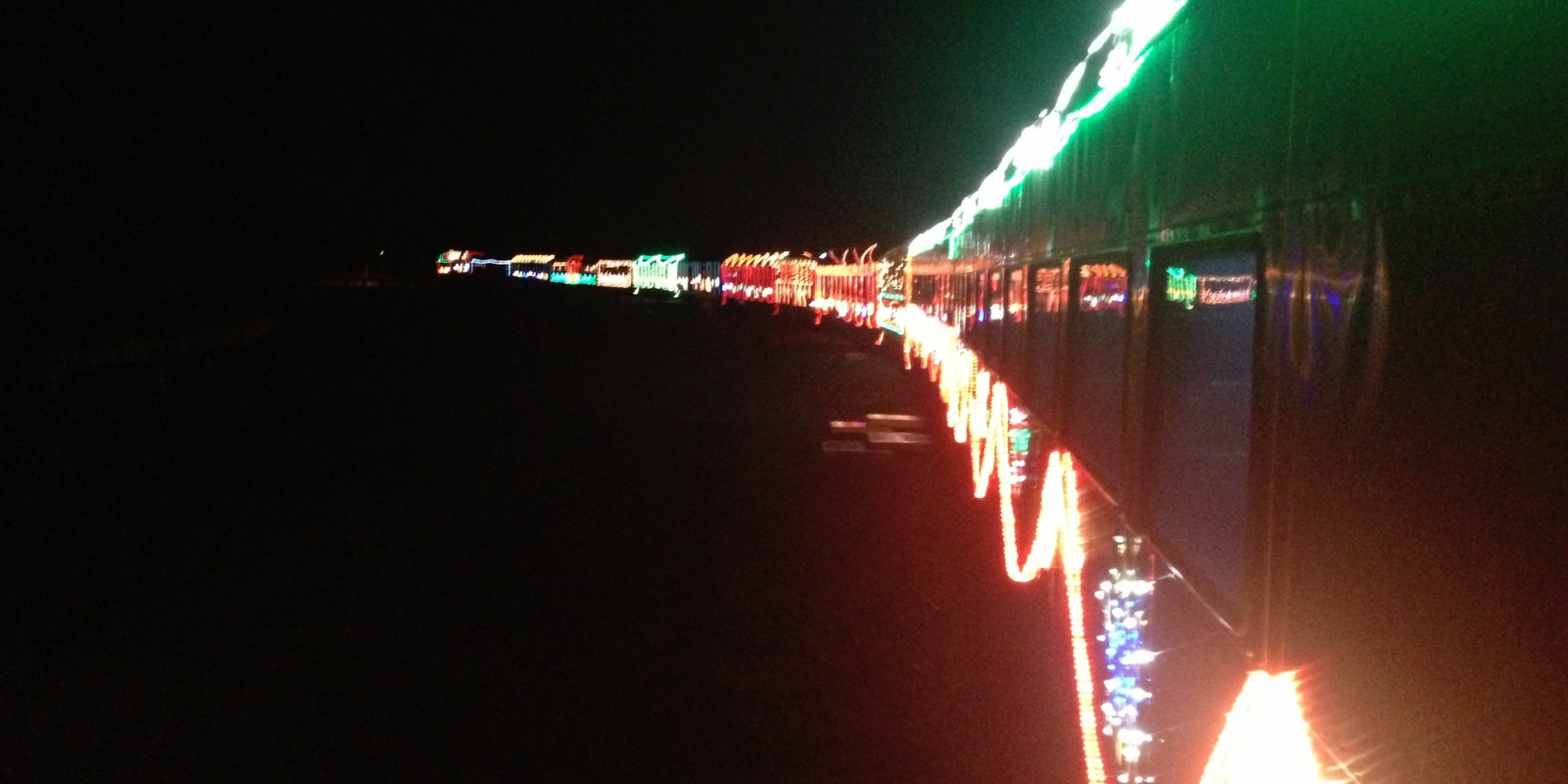 NCRy Train of Lights departing Niles