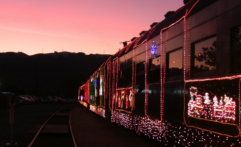 Train of Lights Sunol Sunset