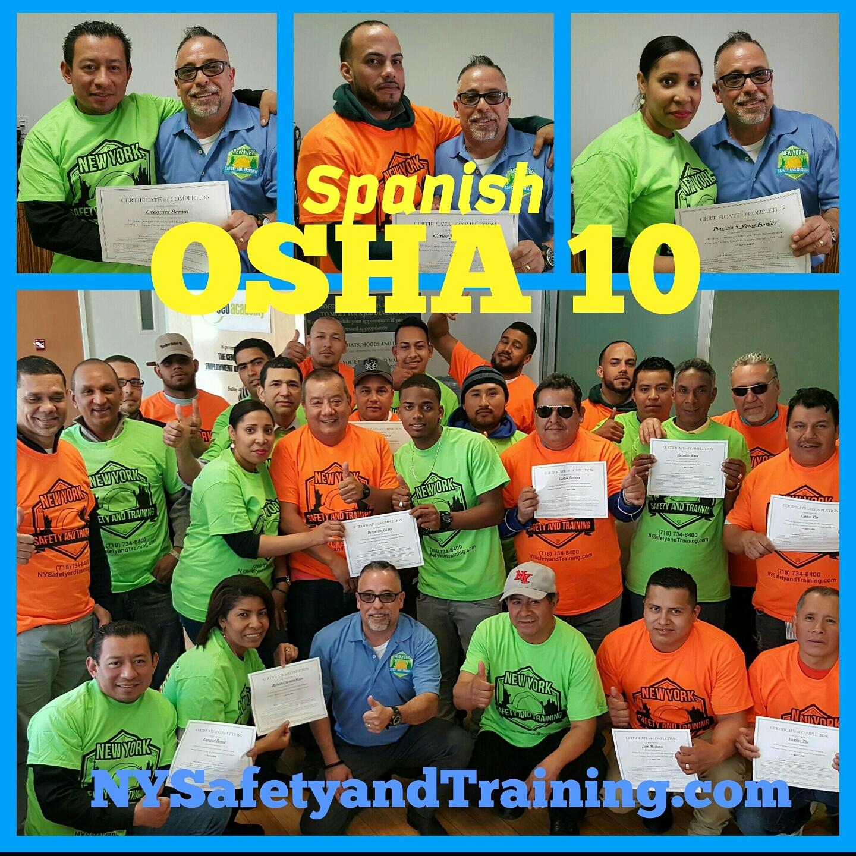 Spanish OSHA 10