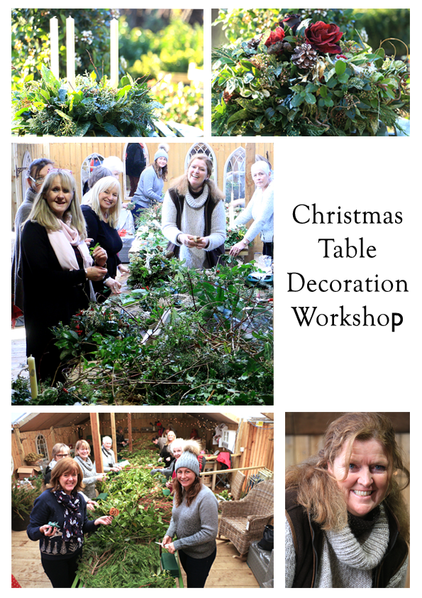 Christmas Table Decorations Workshop