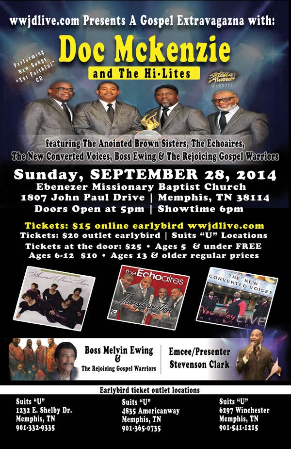 Gospel Extravaganza with Doc Mckenzie and The Hi-Lites