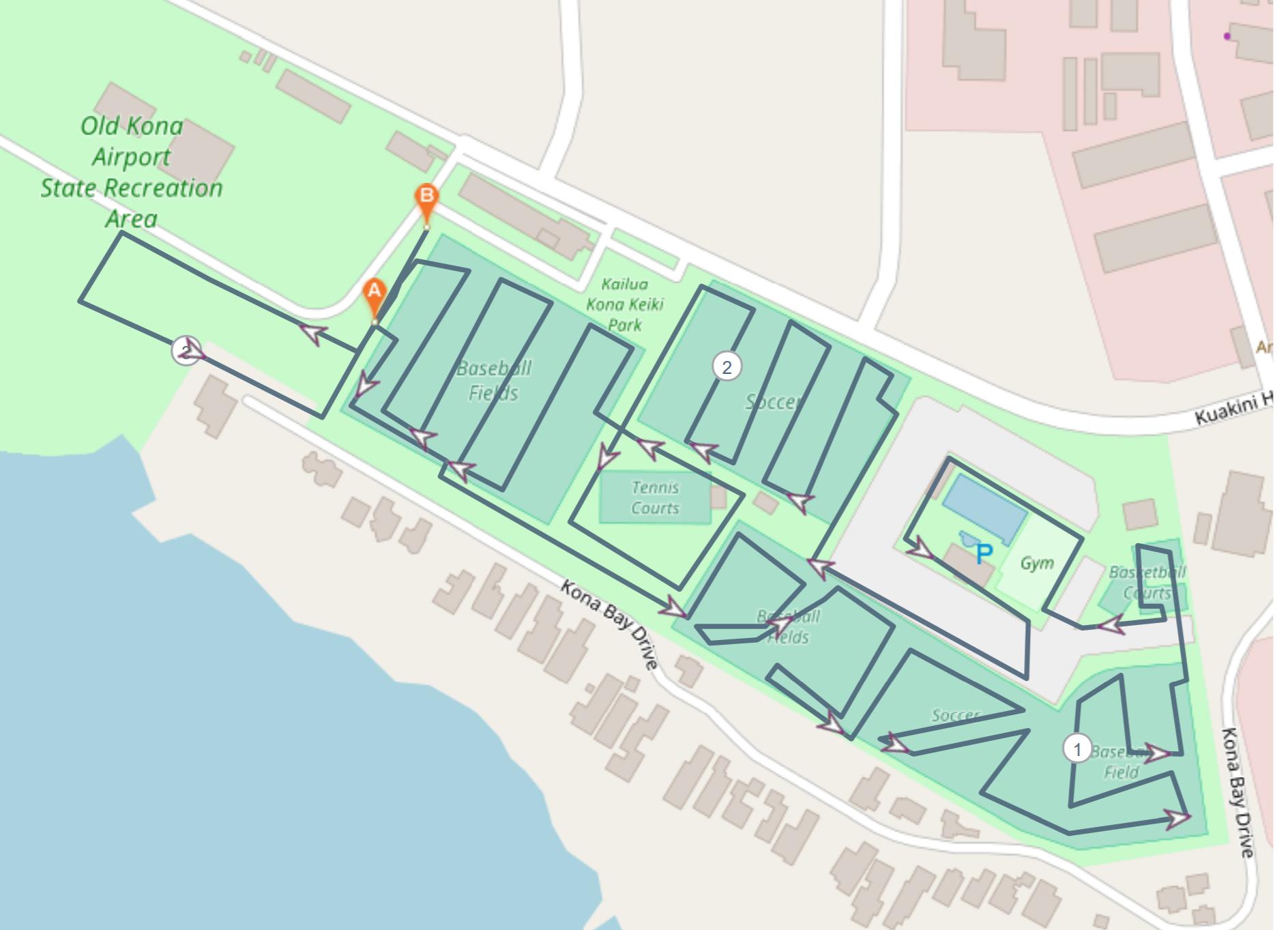 Glow Run Course