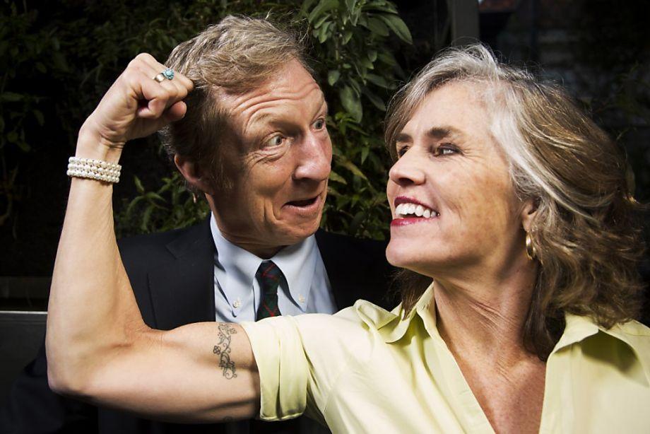 Kat Taylor and husband Tom Steyer