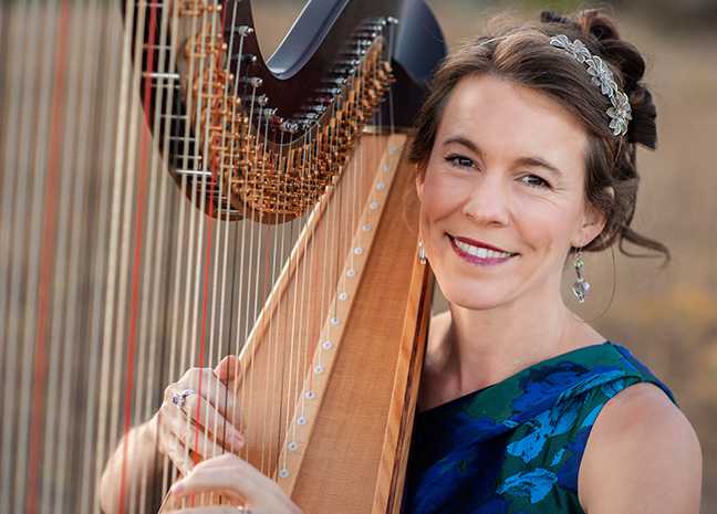 Harpist Erin Newton