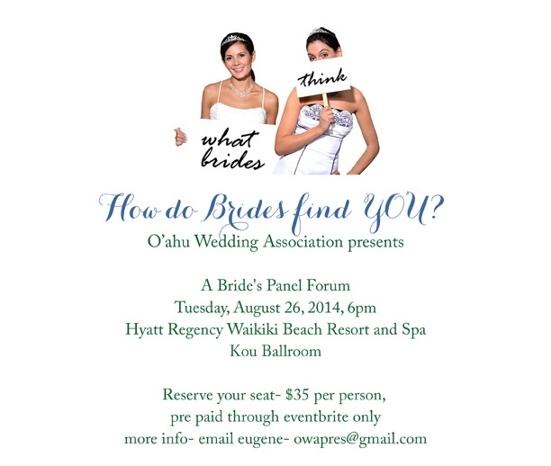 How do BRIDES find YOU ? - 2nd Annual - OWA - Bride's Panel Forum