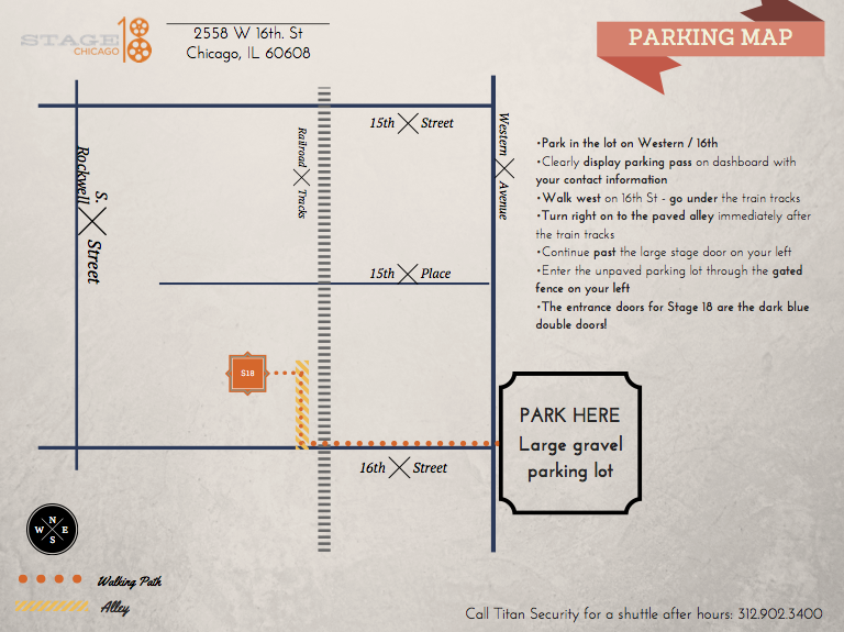 Stage 18 Parking Map