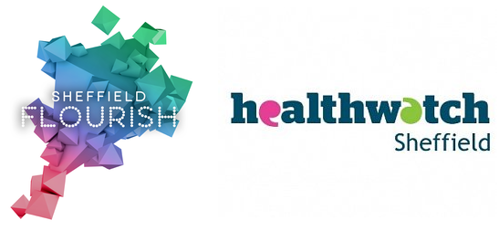 Sheffield Flourish and Healthwatch Sheffield logos