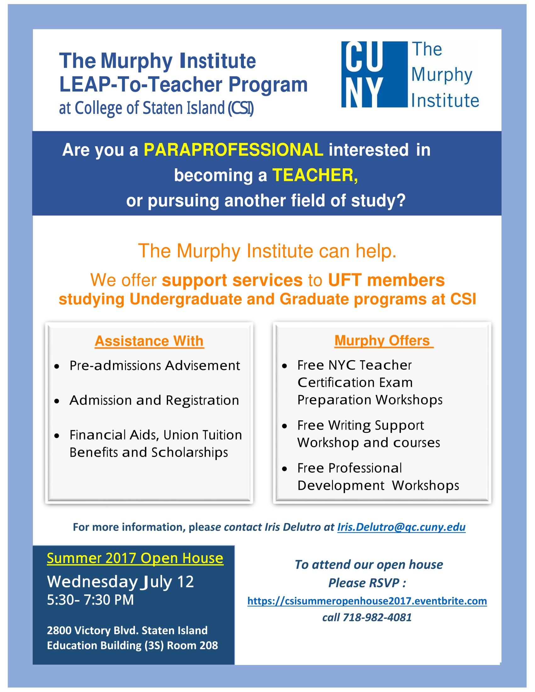 The murphy institute leap to teacher program summer 2017 open description 1betcityfo Image collections