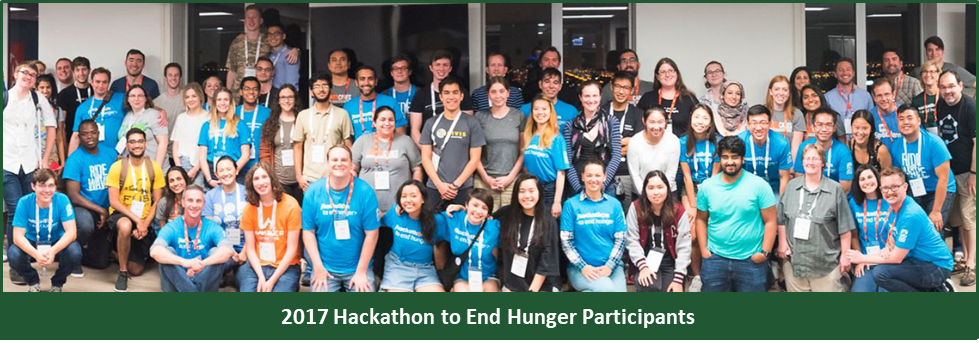 Participants at the 2017 Hackathon to End Hunger