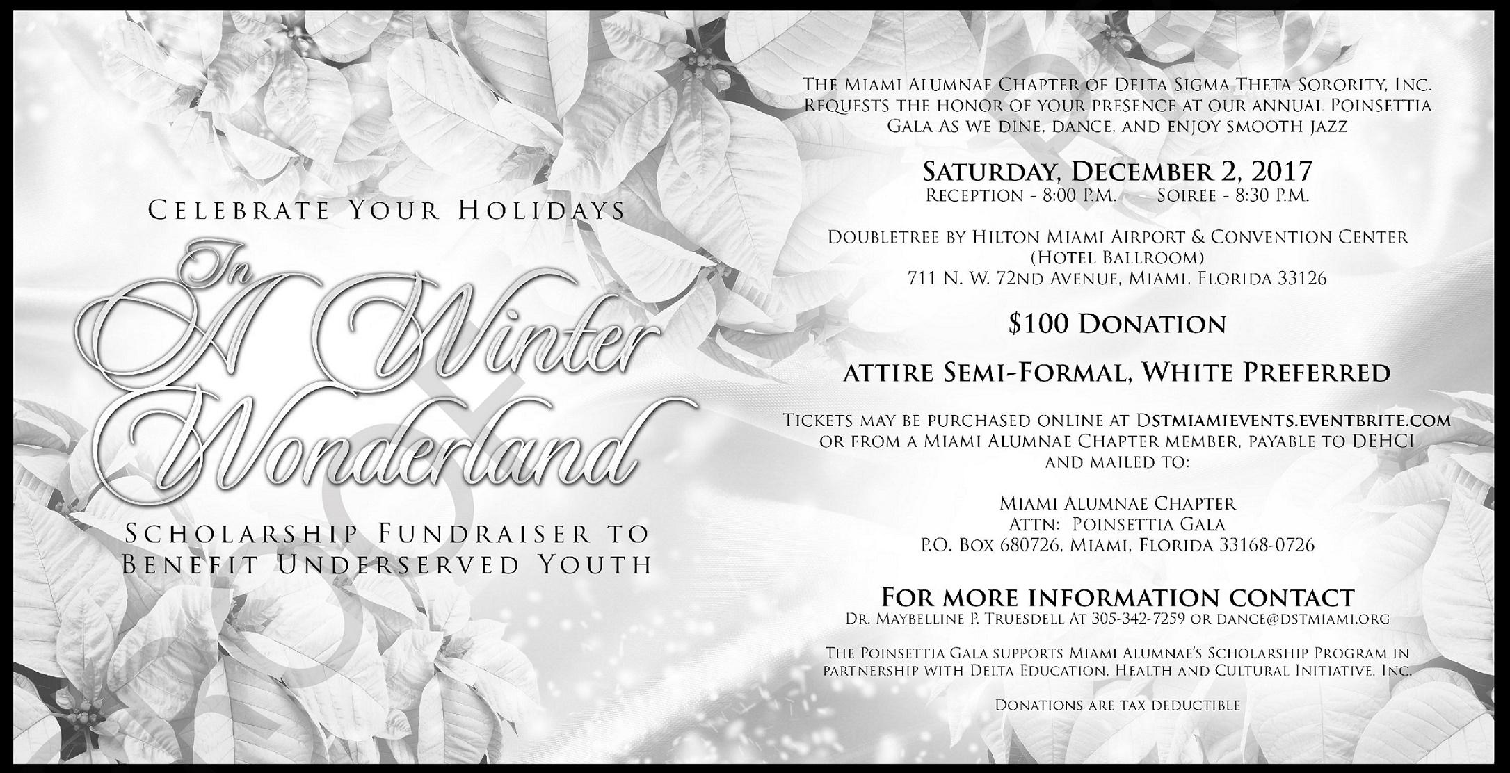 Poinsettia Gala: Winter Wonderland