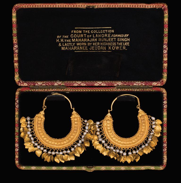 Maharani Jind Kaur's earrings