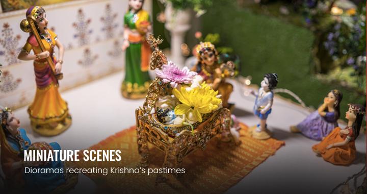 picture of janmastami minature scenes