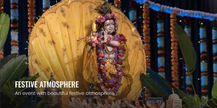 Janmastami worship ceremeony offering
