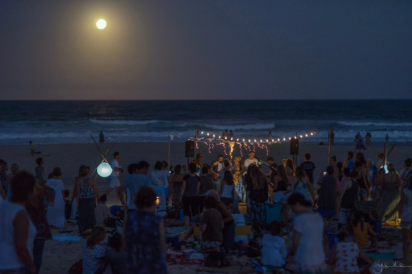 Ocean and Full Moon