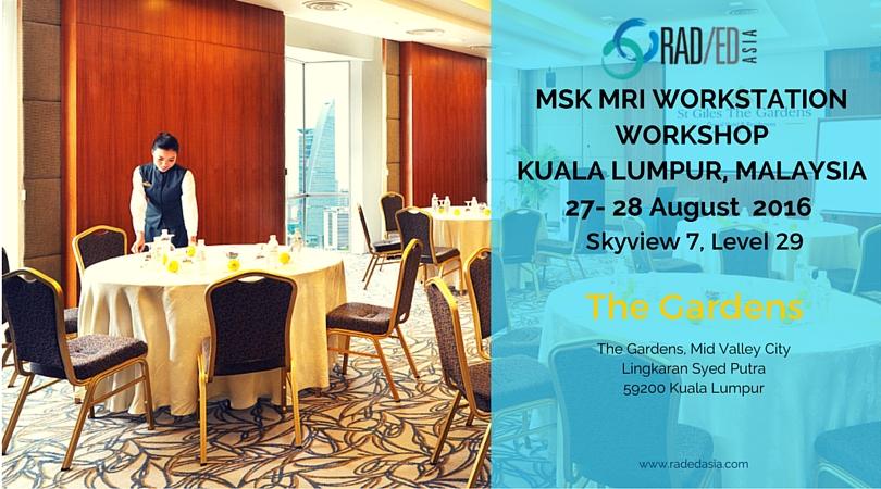 msk mri workstation workshop conference kuala lumpur malaysia