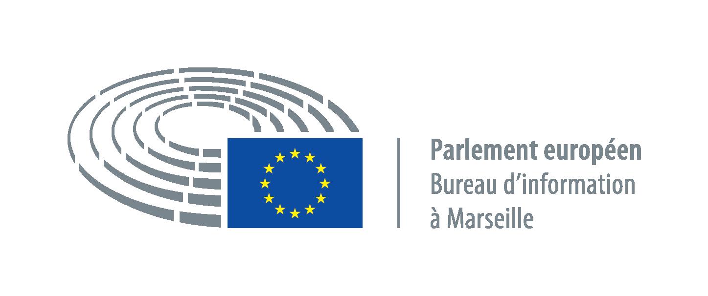 Logo du parlement européen à Marseille