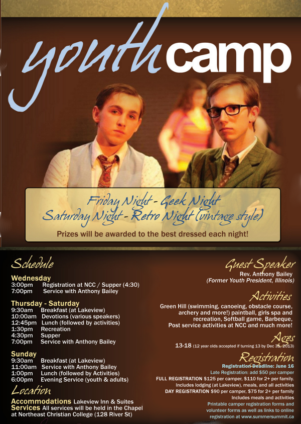 Youth Camp 2013 poster