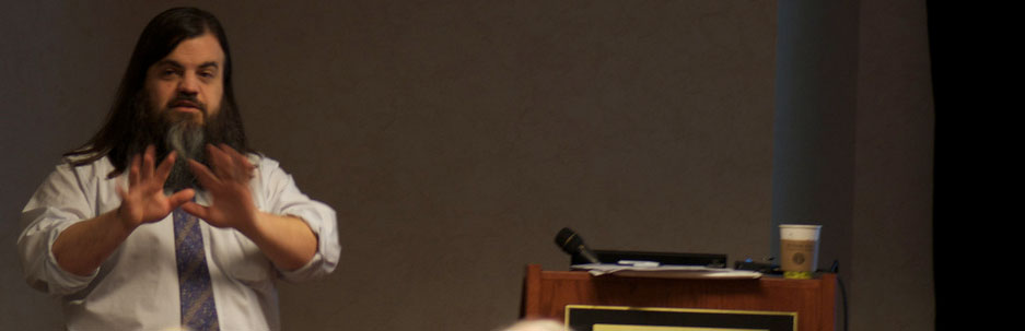 Bryan Alexander lecturing