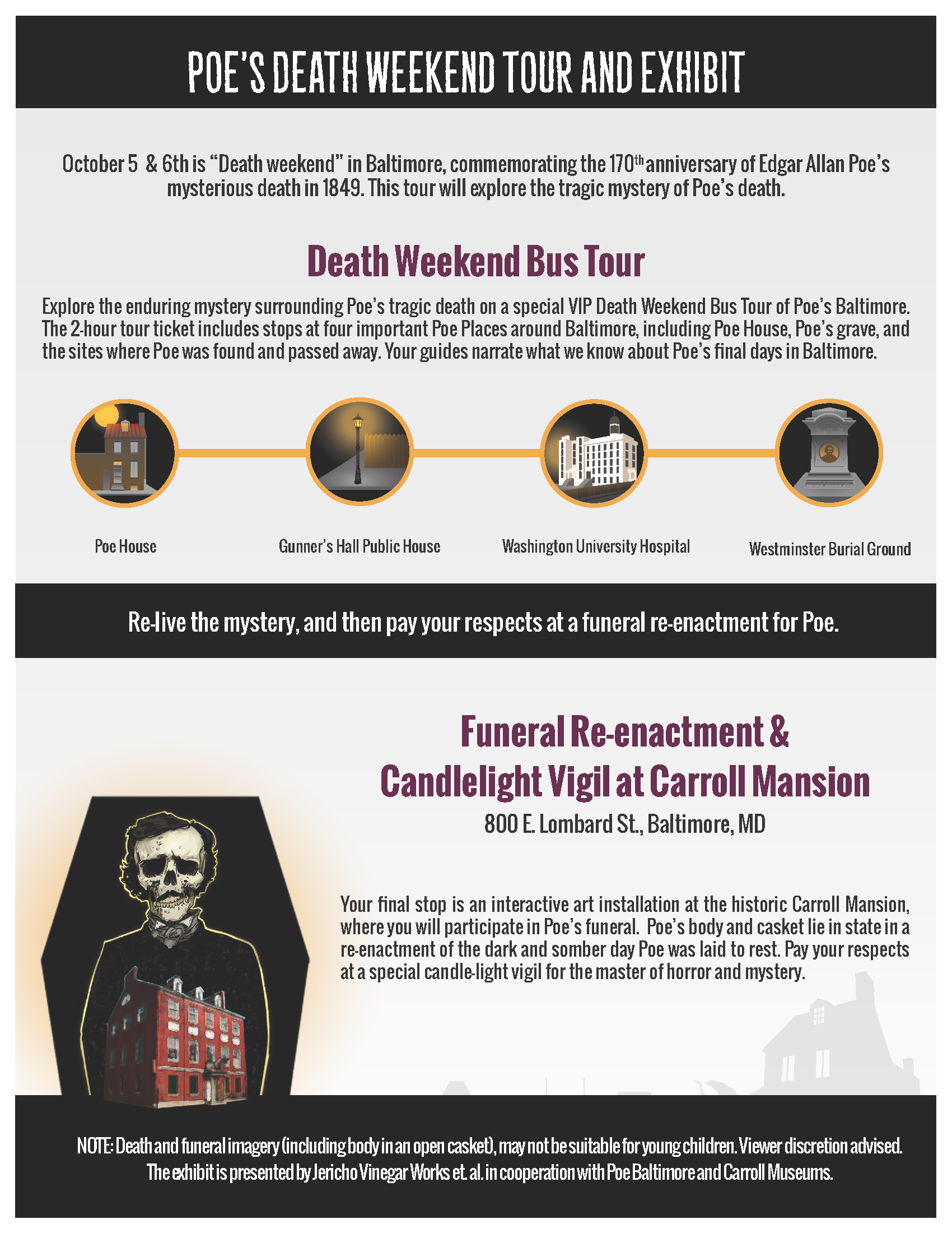 Poe Death Tour and Funeral Re-enactment