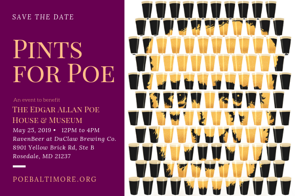Save the date: Pints for Poe is May 25