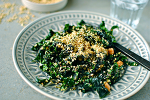 Kale and Walnut Salad with Lemon and Parmesan
