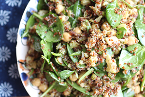 Spicy Chickpea & Spinach Salad