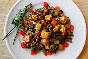 Warm Wild Rice Roasted Root Vegetable Salad
