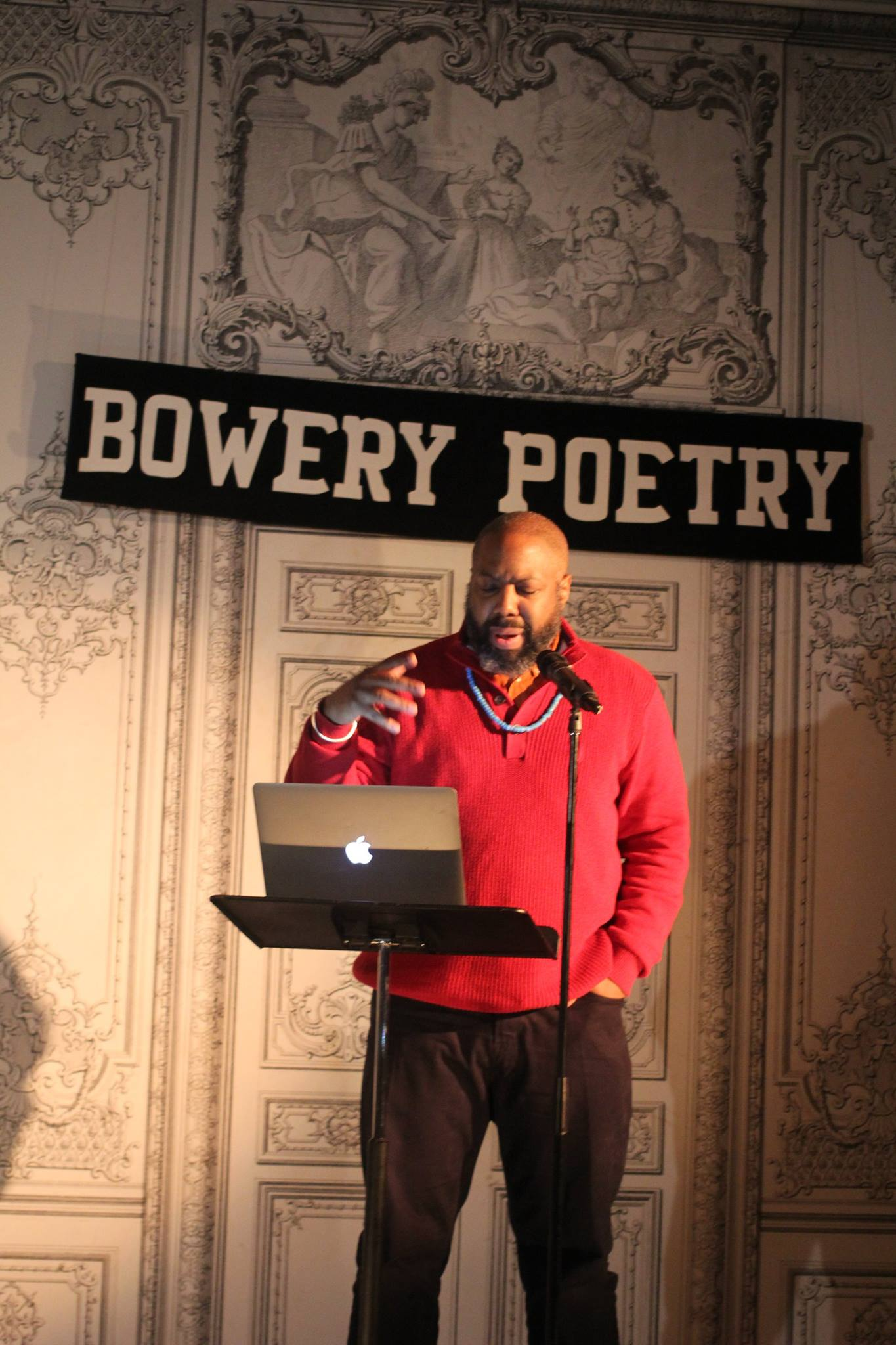 Dr. Herukhuti Performing at Bowery Poetry Cafe