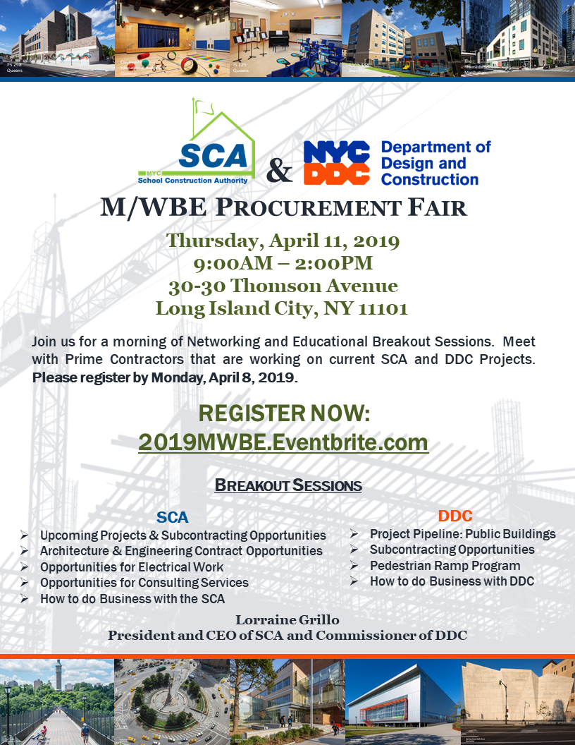 SCA DDC MWBE Procurement Fair
