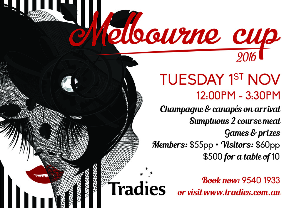 Tradies gymea melbourne cup artwork