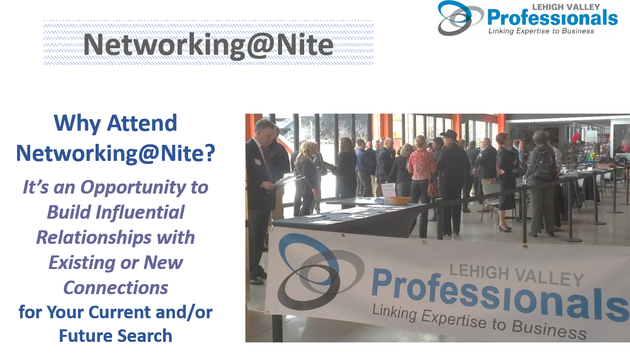 Lehigh Valley Professionals Networking@Nite Event