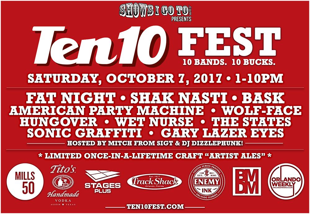 Ten10 Fest Full Lineup